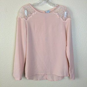 PARAPHRASE Rose Lace Blouse Long Sleeve XS